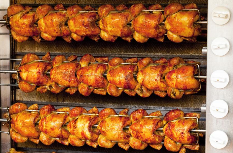 Kurczaki z rożna