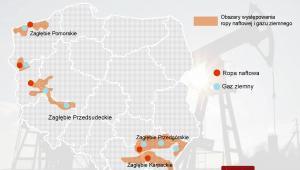 Obszary występowania ropy naftowej i gazu ziemnego