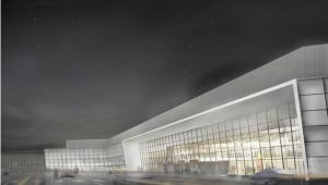 Wizualizacja nowego terminala T1 na Lotnisku Chopina w Warszawie