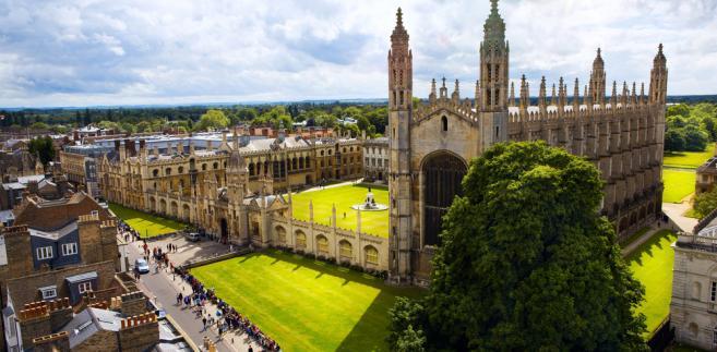 Cambridge, na zdjęciu uniwersytet i katedra Kings College
