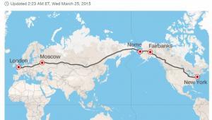Plan rosyjskiej superautostrady łączącej Europę z USA, źródło: CNN