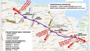 Droga ekspresowa S7 z Elbląga w stronę Gdańska, źródło: GDDKiA