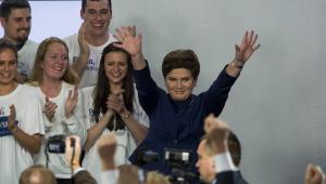 Beata Szydło podczas wieczoru wyborczego PiS, 25.10.2015