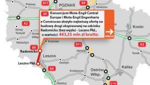 S5 - odcinek Radomicko - Leszno Płd