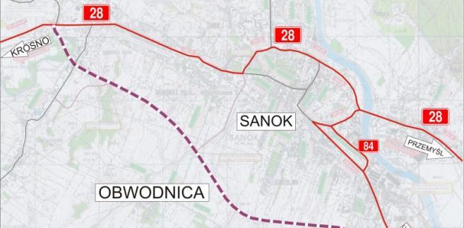 Sanok-obwodnica; źródło: GDDKiA