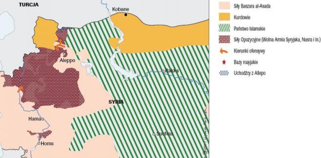 Ofensywa wojsk rządowych w Syrii, źródło: OSW
