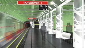 II linia metra w Warszawie - stacja Targówek wnętrze