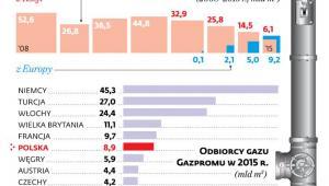 Import gazu na Ukrainę w 2015 r.