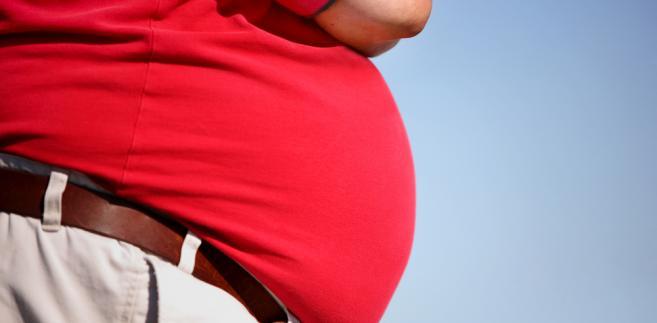 brzuch, gruby człowiek, otyłość