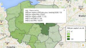 PKB per capita w woj 2014