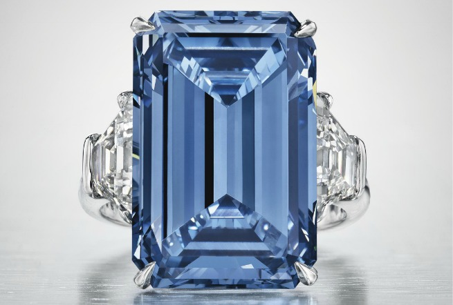 "Niebieski diament ""Oppenheimer Blue"""