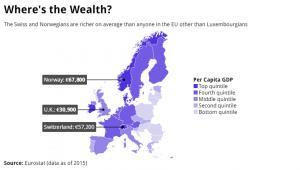 PKB per capita w Europie