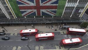 Autobusy na Oxford Street w dniu referendum, Londyn, 23.06.2016