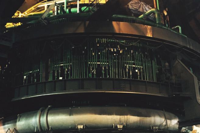 Wielki piec w krakowskiej hucie ArcelorMittal Poland