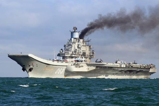 Rosyjski lotniskowiec Admirał Kuzniecow EPA/DOVER MARINA.COM / HANDOUT MANDTAORY CREDIT: DOVER