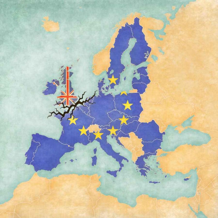 Mapa UE po Brexicie