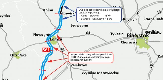 S61 Via Baltica - dziś zostaną ogłoszone przetargi na dwa północne odcinki