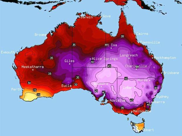 Fala upałów w Australii. Źródło: twitter.com/amylyne_