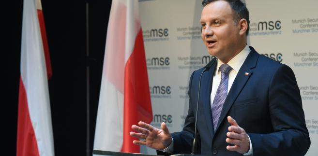 Prezydent Andrzej Duda  w drugim dniu 53. Monachijskiej Konferencji Bezpieczeństwa.