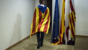 Katalończyk na przemówieniu Carlesa Puigdemonta, Barcelona, 4.10.2017