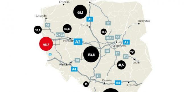 Najbardziej dochodowe odcinki autostrad w Polsce