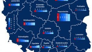 kolej w województwach