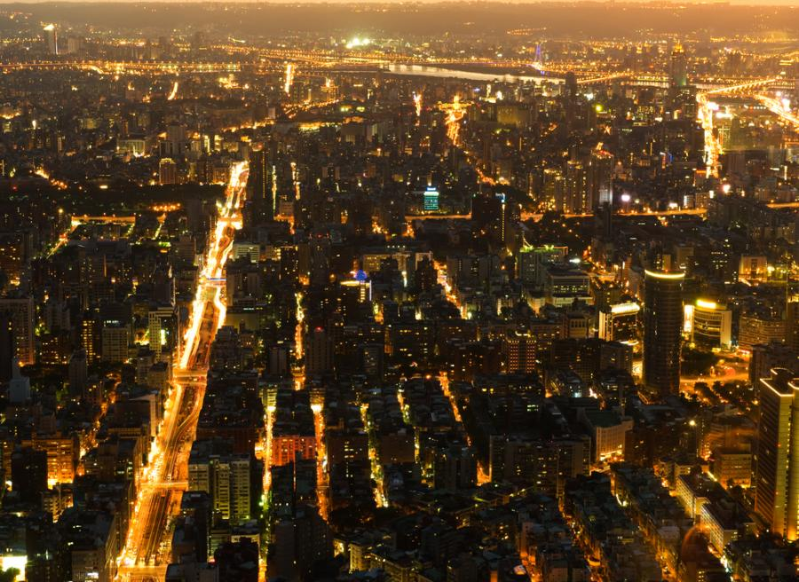 Taipei, Tajwan. Widok z budynku Taipei 101