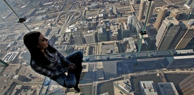 Widok na Chicago z Willis Tower w USA