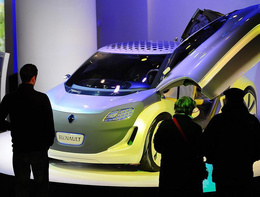 Model elektrycznego samochodu Renault