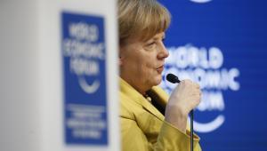 Angela Merkel podczas Forum Ekonomicznego w Davos, Szwajcaria, 22.01.2015