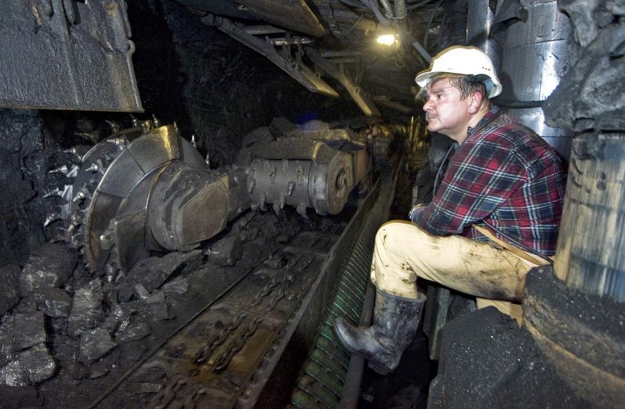 Maszyny górnicze w kopalni Jaworzno