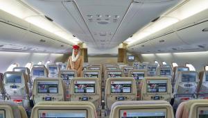 A380 linii Emirates - klasa ekonomiczna