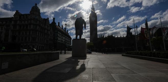 Pomnik byłego premiera Wielkiej Brytanii Winstona Churchilla, Londyn, 7.06.2017