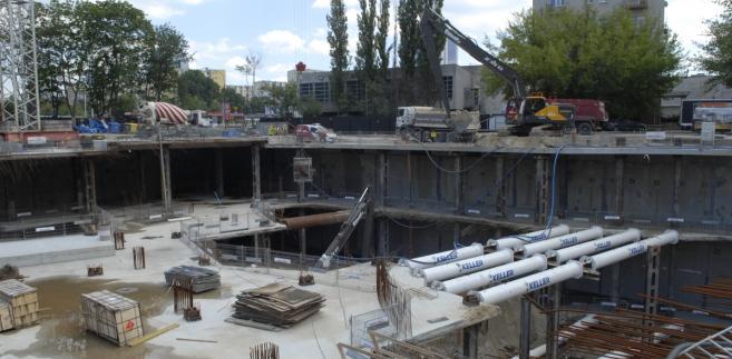 Budowa The Warsaw HUB. Czerwiec 2017 r., Źródło: Ghelamco.