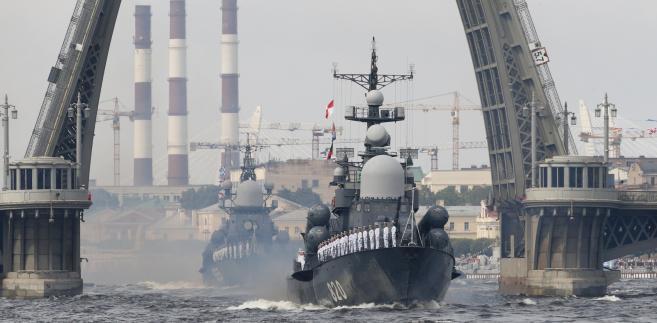 Defilada rosyjskiej marynarki wojennej.