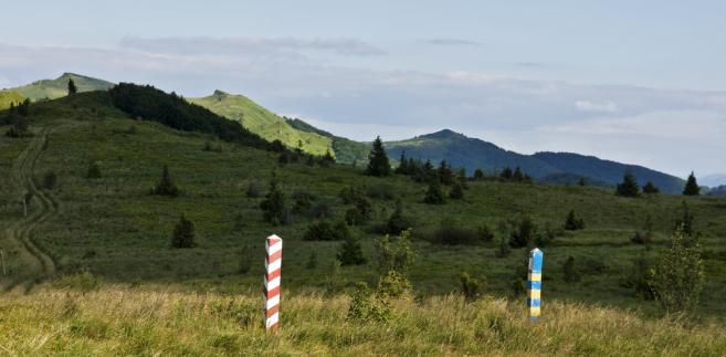 Polsko-ukaińska granica w Bieszczadach