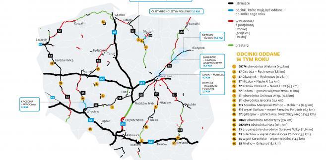 Program budowy dróg [mapa]