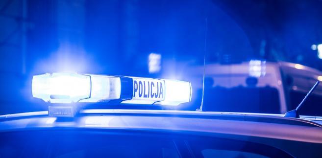 Policja, radiowóz, światła