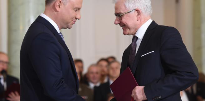 Prezydent Andrzej Duda powołuje Jacka Czaputowicza  na stanowisko ministra spraw zagranicznych.
