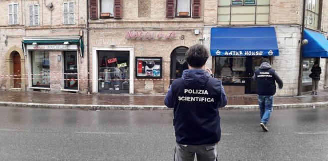 Miejsce strzelaniny we Włoszech