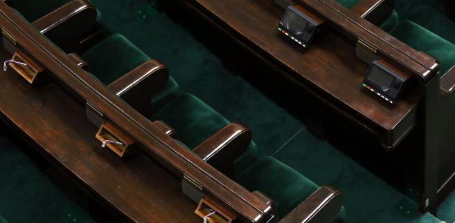 Sejm. Ławy poselskie