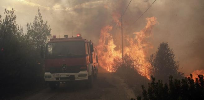 Grecja pożar