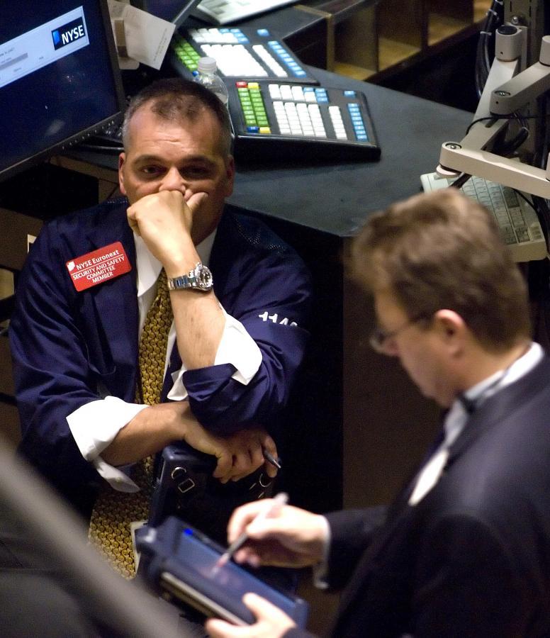 Maklerzy znowu mają ciężki dzień. fot. Bloomberg