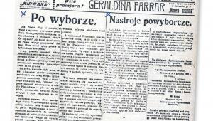 """""""Gazeta Poranna 2 grosze"""" w antysemickim paszkwilu ogłosiła po wyborze Narutowicza zdradę narodową fot. NAC"""