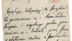 Fragment listu Józefa Piłsudskiego do Romana Dmowskiego, w którym prosi go o reprezen- towanie Polski na konferencji wersalskiej fot. mat. prasowe