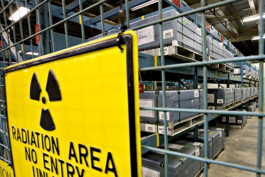 Elektrownia jądrowa. fot. Bloomberg