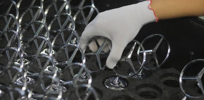 Logo Mercedesa. Fot. Wolfgang von Brauchitsch/Bloomberg