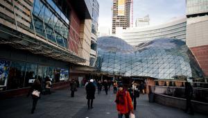 Centrum handlowe Złote Tarasy w Warszawie.  Fot. Bartek Sadowski/Bloomberg