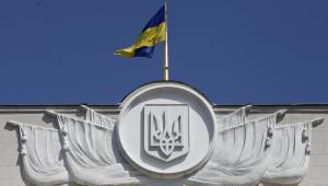 Flaga narodowa na parlamencie Ukriany